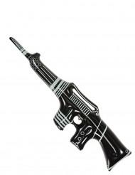 Aufblasbares Maschinengewehr schwarz-weiß 90 cm