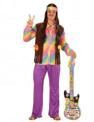 Kostüm Hippie pastellfarben für Männer