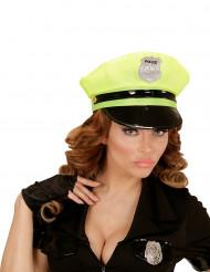 Polizei-Mütze für Erwachsene gelb