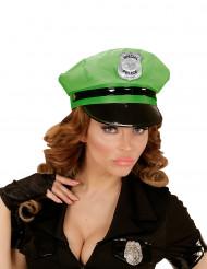 Polizei-Mütze für Erwachsene grün