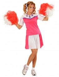 Cheerleaderin Kostüm für Damen!