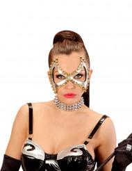 Halbmaske mit Nieten für Damen