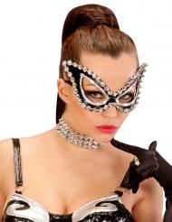 Venezianische Maske schwarz für Damen