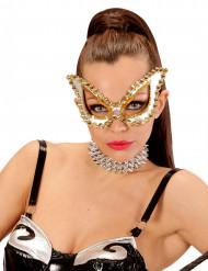 Venezianische Maske silber für Damen