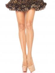 Weitmaschige Netzstrumpfhose für Damen beige