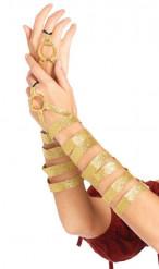 Arm-Manschetten für Damen gold