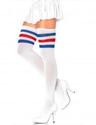 Sportlerin Strümpfe für Damen weiß-rot-blau