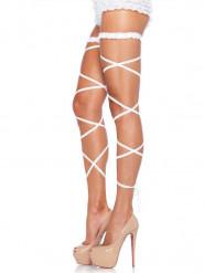 sexy Strumpfbänder weiß
