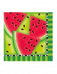 16 Papier-Servietten Wassermelone