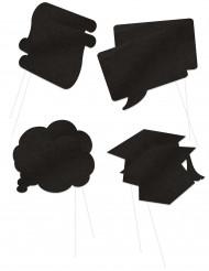 Diplomand Foto-Set schwarz