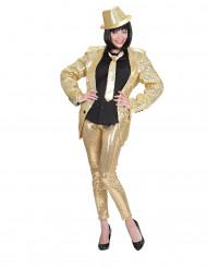 Pailletten-Leggings für Erwachsene gold