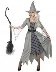 Hexen Kostüm grau für Damen