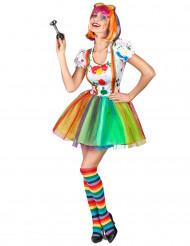 Clownskostüm für Damen mit Farbspritzern