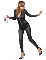Maskierte Räuberin Kostüm für Damen