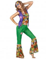Grünes Hippie Kostüm für Damen