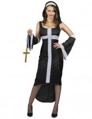 Sexy Nonne Kostüm für Damen