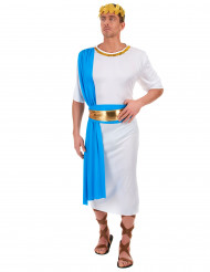 Griechischer Kaiser Kostüm für Herren weiss-blau-goldfarben