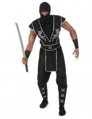 Ninja Kostüm mit Shuriken Stern für Herren