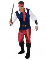 9-teiliges Piratenkostüm für Herren
