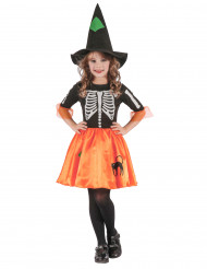 Kostüm Hexenskelett für Mädchen