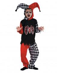 Blutender Harlekin Kostüm für Jungen