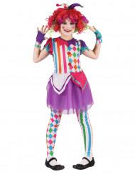 buntes Harlekin Kostüm für Mädchen
