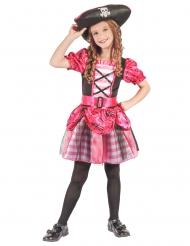 Kostüm Korsarin rosa für Mädchen