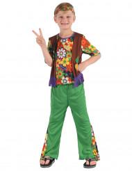Hippie-Kinderkostüm für Jungen bunt