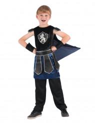 Ritterkostüm mit Umhang für Jungen schwarz-blau-weiss