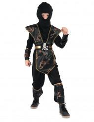 Ninjakostüm gold für Jungen