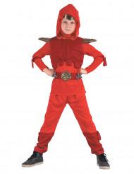 Kostüm königlicher Ninja rot für Jungen