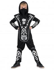 Jungen Ninja Kostüm Totenkopf