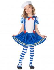Kostüm schimmenender Seemann für Mädchen