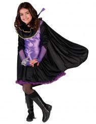 Vampir-Kostümset für Mädchen schwarz-violett