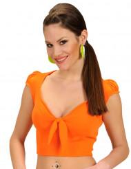 Sexy Top für Damen bauchfrei orange