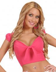 Sexy Top für Damen bauchfrei pink