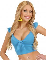 Sexy Top für Damen bauchfrei blau