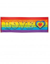 LOVE Party-Banner Regenbogen 74 x 220 cm
