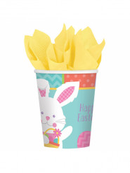 8 Happy Easter Ostern Papp-Becher 266 ml