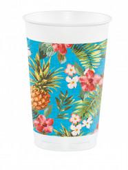 8 große Partybecher Hawaii-Motiv 473 ml