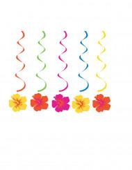 5 Hawaiiblumenspiralen zum Aufhängen