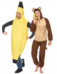 Paarkostüm Affe und Banane