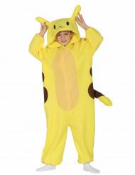 Süßes Monster-Kostüm für Kinder gelb-braun