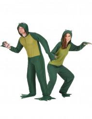 Paarkostüm Frosch Anzug mit Kapuze