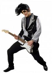 Schwarz-silberne Jacke für Erwachsene
