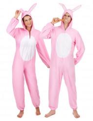 Paarkostüm Hase rosa für Erwachsene
