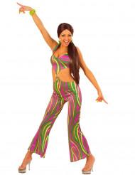 70er Disco-Kostüm für Damen bunt