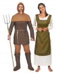 Kostüm Mittelalterliches Bauernpaar