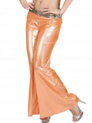 Holografische Discohose orange für Damen