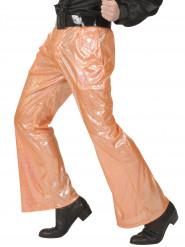 Holografische Discohose orange für Herren